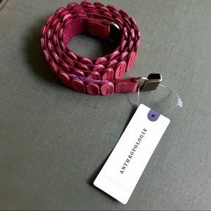 Anthropologie Leather Stretch Belt